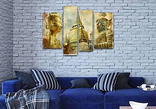 Модульная картина Восточные боги  на Холсте, 90x130 см, (65x35-2/90х25/75x25), фото 3