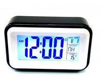 Часы 608 говорящие, Часы с подсветкой, Электронные часы настольные, Часы будильник, Часы с термометром