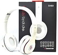Беспроводные наушники Beats Solo HD S460 Bluetooth white с MP3 плеером белые реплика