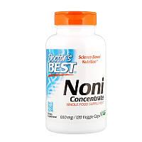 Концентрат нони, 650 мг, 120 вегетарианских капсул, Doctor's Best