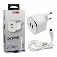 Универсальное сетевое зарядное устройство на 2 USB 2.4 A