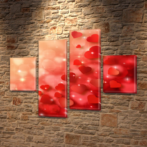 Картины модульные на ПВХ ткани, 85x110 см, (35x25-2/75х25-2)