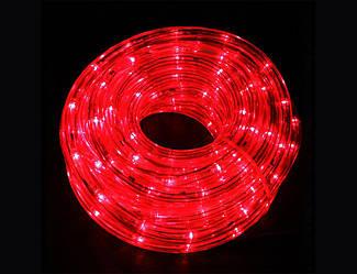 Гірлянда Дюралайт LED червона 20 метрів з контролером