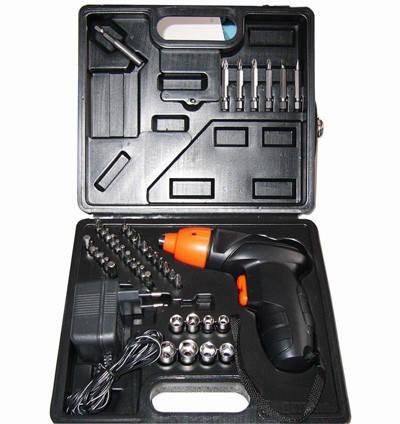 Аккумуляторный шуруповерт Cordless Screwdriver на 45 предметов + КЕЙС оптом, фото 2