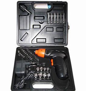 Аккумуляторный шуруповерт Cordless Screwdriver на 45 предметов + КЕЙС оптом
