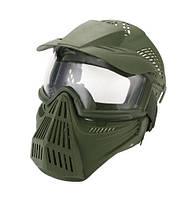 Новый шлем для игры в пейнтбол, маска для пейнт бола, зеленая