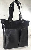531 Сумка женская натуральная кожа, черная, фото 2