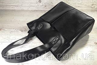 531 Сумка женская натуральная кожа, черная, фото 3