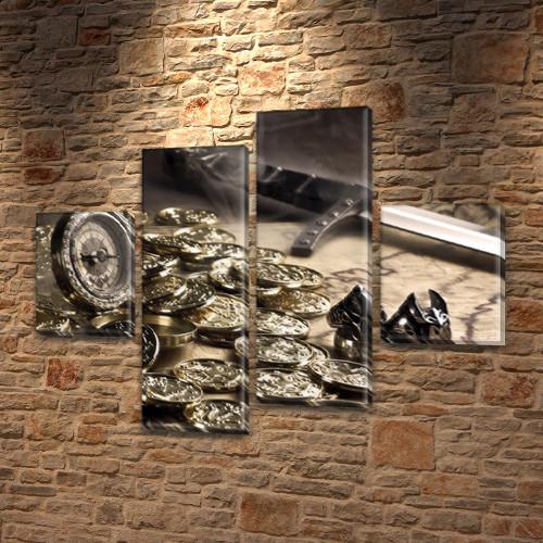 Модульные картины купить украина на ПВХ ткани, 85x110 см, (35x25-2/75х25-2)