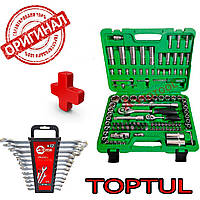 Набор инструментов 108ед. GCAI108R-TOPTUL и Набор ключей 12пр. HT-1203 подарок