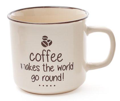 Кружка керамическая 450мл Coffee 4 вида (344-090)
