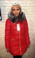РАСПРОДАЖА!!! Женская зимняя куртка красная недорого  46