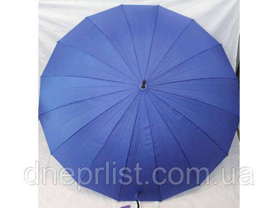Зонт ТРОСТЬ на 16 спиц, синий / Feeling Rain, фото 2