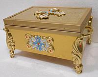 Ковчег из булата на 2-6 мощевиков, размер 24 на 17см, фото 1