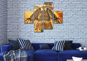 Модульные картины в спальню на ПВХ ткани, 85x110 см, (35x25-2/75х25-2), фото 3