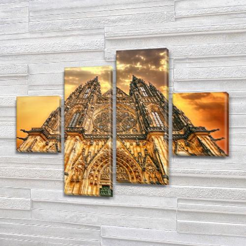 Модульные картины в спальню на ПВХ ткани, 85x110 см, (35x25-2/75х25-2)