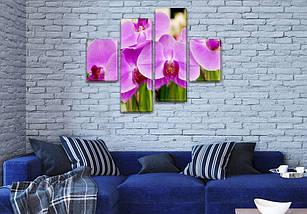 Модульная картина Фиолетовые орхидеи  на ПВХ ткани, 85x110 см, (35x25-2/75х25-2), фото 3