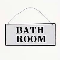 Табличка bathroom 21*9 см nn0022