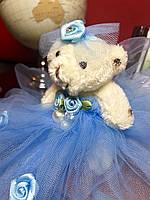 Оригинальный Сувенир Коллекционный Мишка В Платье Брелок Мишка, фото 1