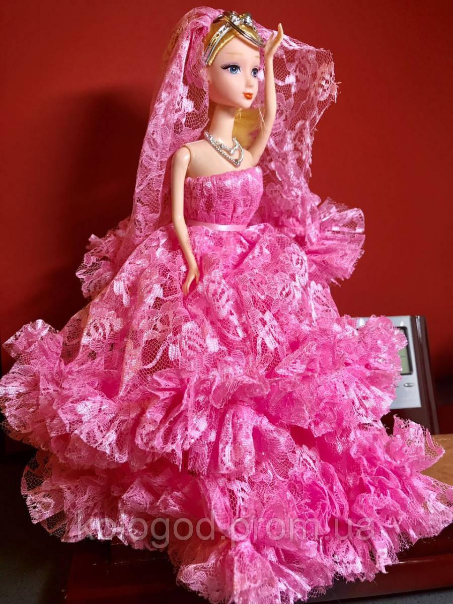 Оригинальный Сувенир Кукла Барби В Свадебном Платье с Фатой Брелок Кукла