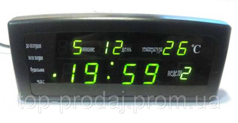 Часы CX 868 green, Часы Электронные, Часы с LED дисплеем, Настольные часы с подсветкой, Часы с будильником