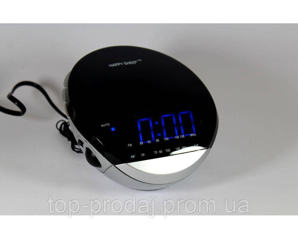 Часы YJ 382, Часы с Радиоприемником, LED дисплей часов,  Сетевые  Часы с Радио, Настольные часы с ФМ радио