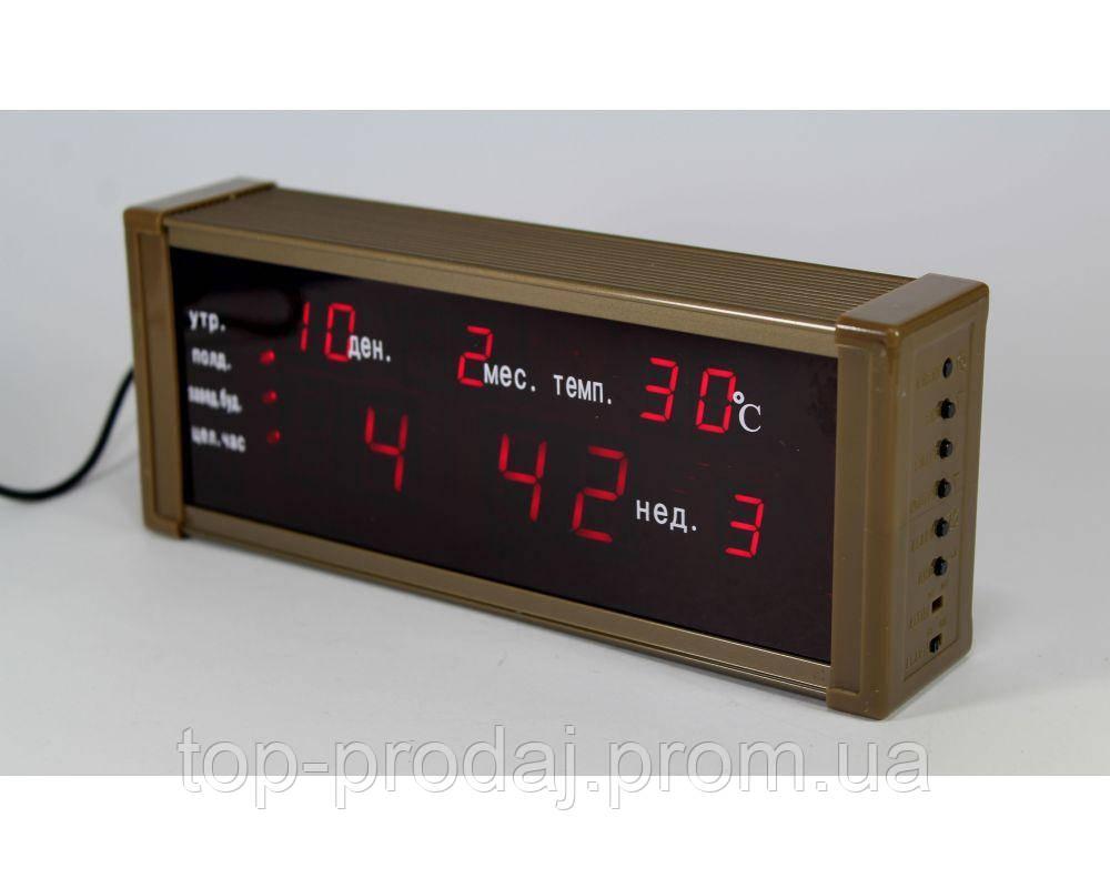 Часы ZX 13M, Настольные Электронные Часы Led, Часы электронные с будильником и термометром, Сетевые часы