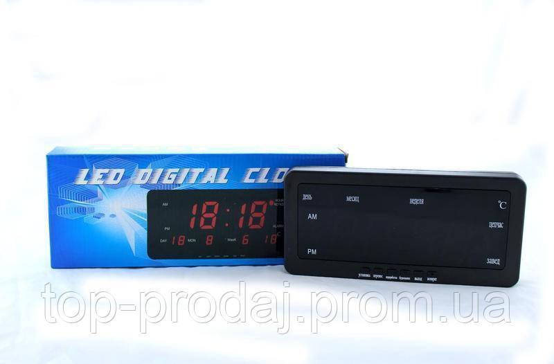 Часы 1018, Электронные настольные часы, Часы с календарем, градусником, «напоминалкой», Электронные часы
