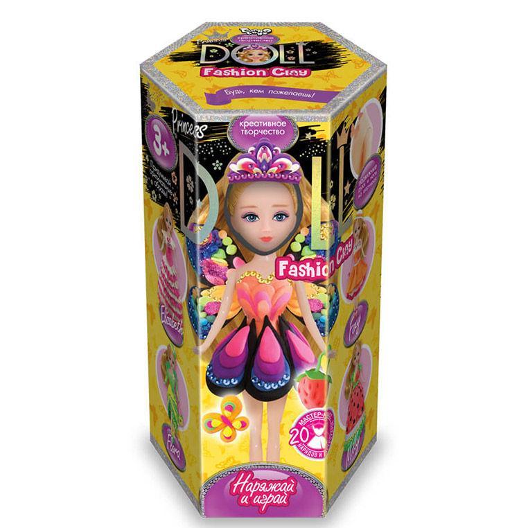 Набор для творчества DankoToys DT CLPD-02-01 пластилин Princess Doll малый
