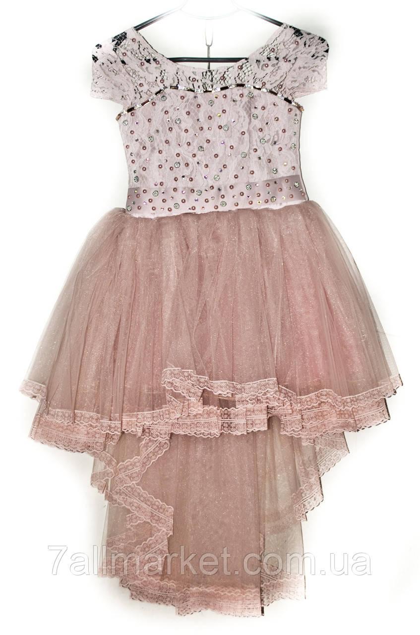 13971f91f16e8eb Платье бальное фатиновое со шлейфом на девочку 6-8 лет (7 цветов) Серии