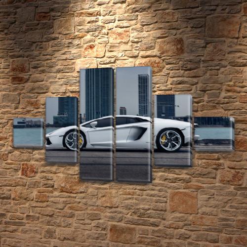 Модульные картины в спальню на ПВХ ткани, 75x130 см, (20x20-2/45х20-2/75x20-2)
