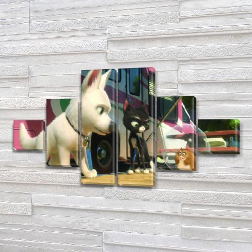 Картины модульные для детей, 75x130 см, (20x20-2/45х20-2/75x20-2)