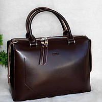 Сумка натуральная кожа цвет кофе кожаные сумки Украина Фенди, фото 1