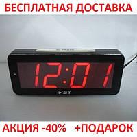 Стильные часы с будильником VST-763T-1, настольные, светодиодная красная подсветка, оригинальный дизайн