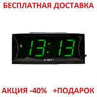 Электронные часы с будильником VST 719-1, настольные, светодиодная красная подсветка, оригинальный дизайн