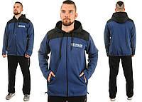 Теплый мужской спортивный костюм Tailer из трикотажа и плащевки сезон зима  Удлиненная куртка! c4e702ed4e35d