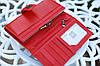 Кошелек женский брендовый  Givenchy кожаный бордовый, фото 7