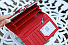 Кошелек женский брендовый  Givenchy кожаный бордовый, фото 8