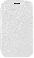 Чехол Melkco Leather Case Jacka Face Cover White Samsung Galaxy SDuos S7562 (SS7562LCFB2WELC)