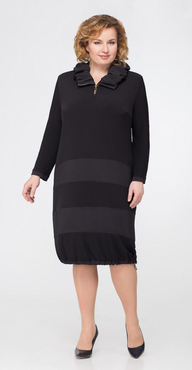 Платье Svetlana Style-1037 белорусский трикотаж, черный, 58