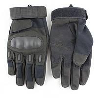 Полнопалые перчатки с защитой костяшек/ Tactical gloves black