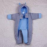 Зимний набор для новорожденных мальчиков на выписку, Mini голубой, фото 5