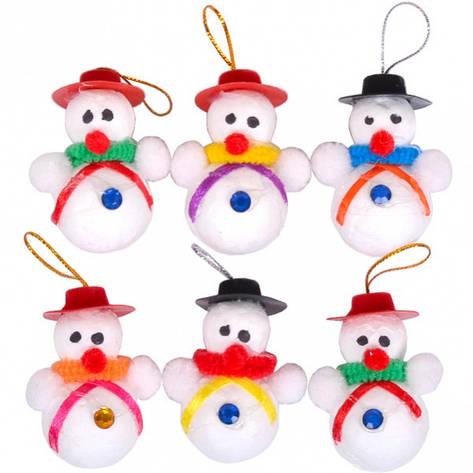 Набор снеговиков 6 шт FB8039, фото 2