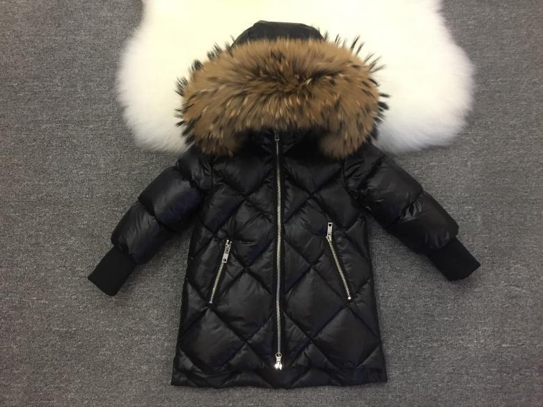 Детская курточка на пуху Lie Bei черная стеганная, Детский пуховик, Зимняя куртка на девочку