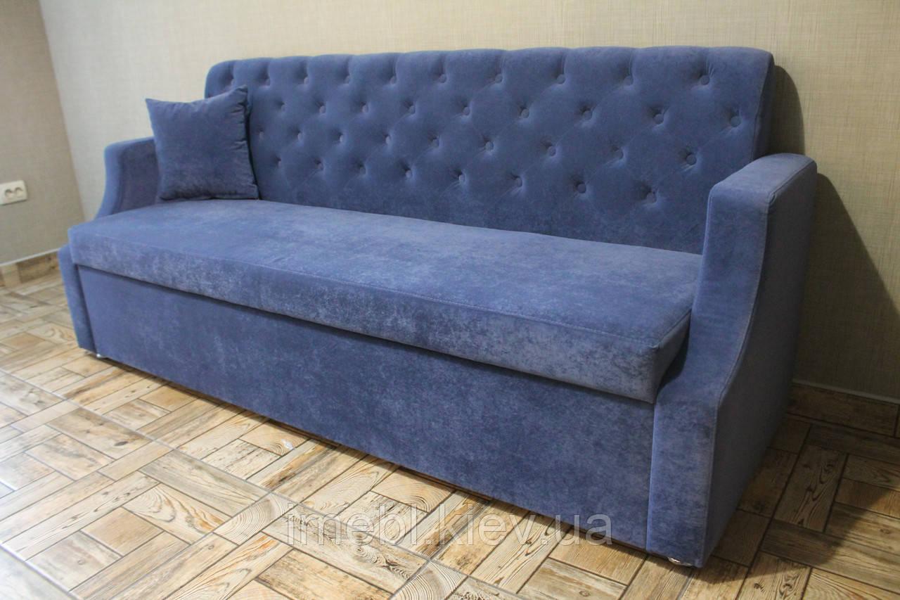 Кухонный диван с вместительной нишей (Синий)