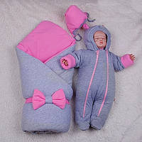 Зимний набор для новорожденных детей на выписку, Mini розовый, фото 1