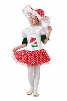 Детский карнавальный костюм Грибок - девочка (текстиль)