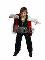 Детский карнавальный костюм Дракула (текстиль)