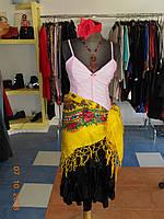 """Карнавальный женский костюм """"Цыганка"""" с розовым корсетом Kaprizz, фото 1"""