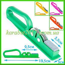 Точилка для ножей с пластиковой цветной ручкой L19,5см, фото 2